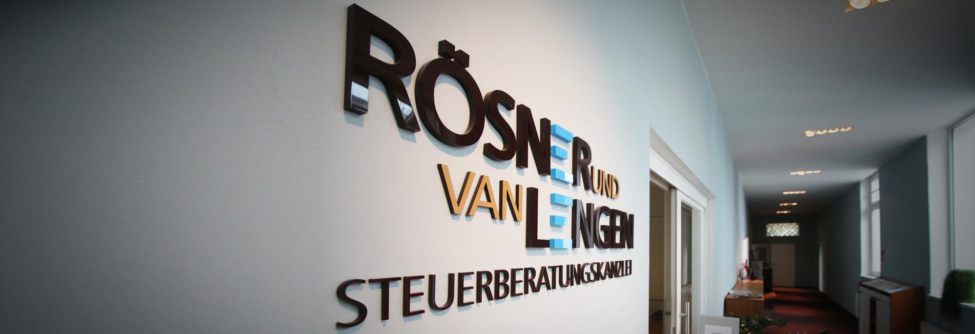 Rösner und van Lengen Logo an der Wand